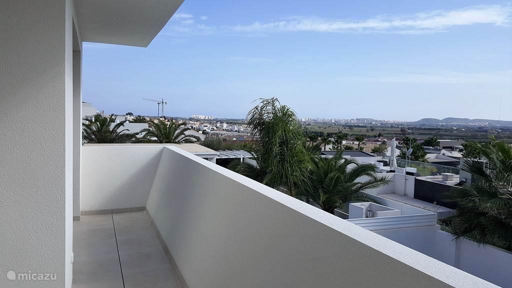 prachtig uitzicht vanaf het balkon