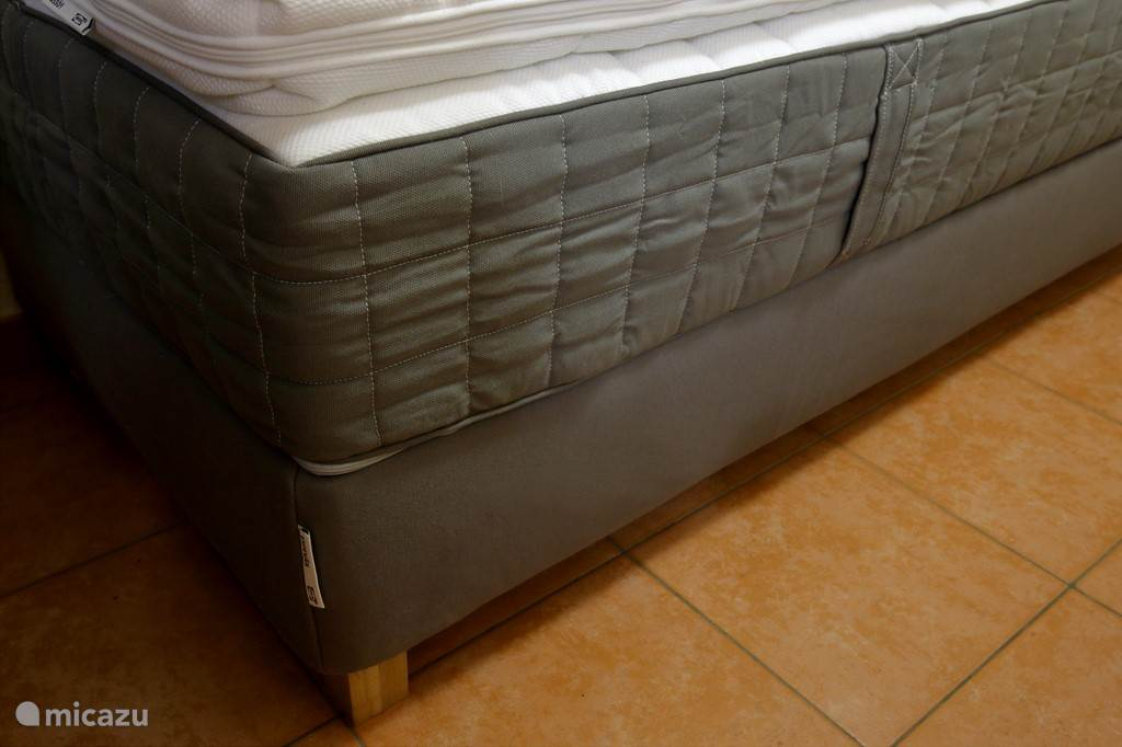 Box spring mattresses in 3 bedrooms