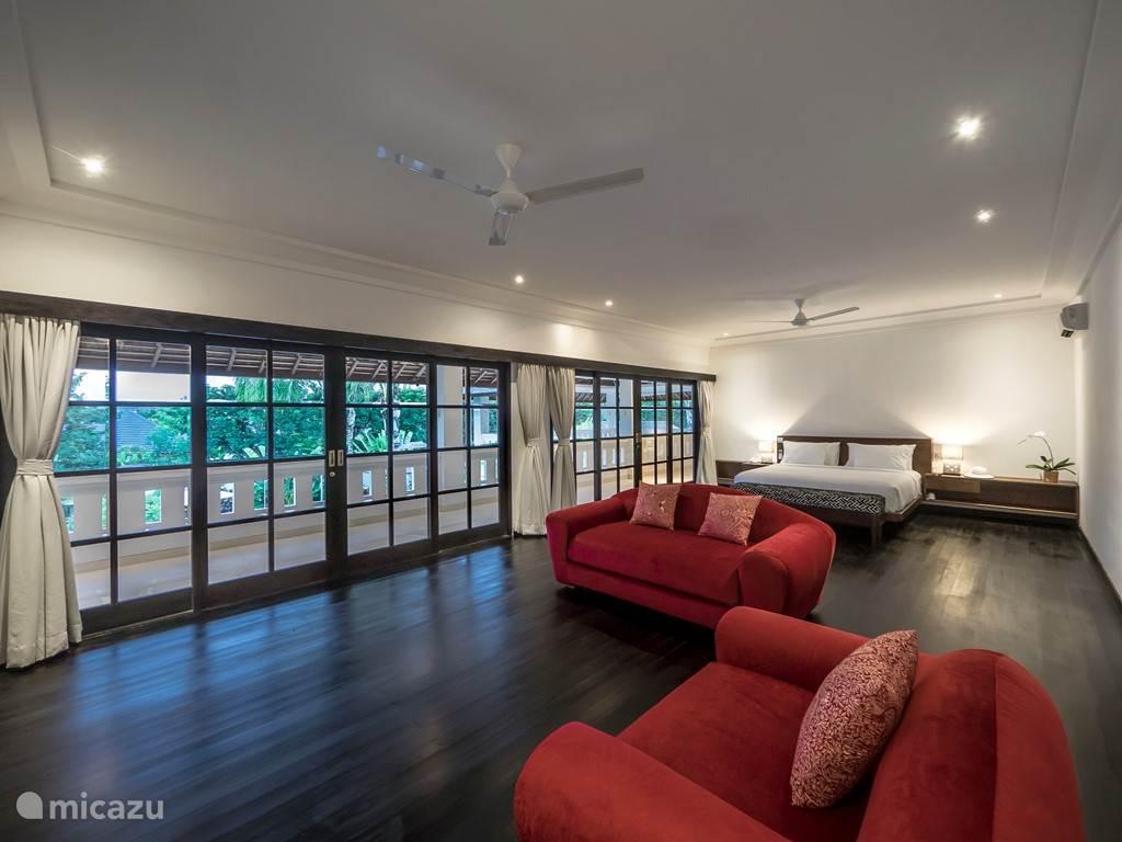Wooden floor master bedroom