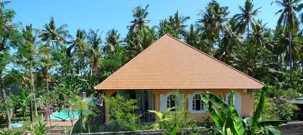 Villa Mimosa en het ruime zwembad met bubbelbad
