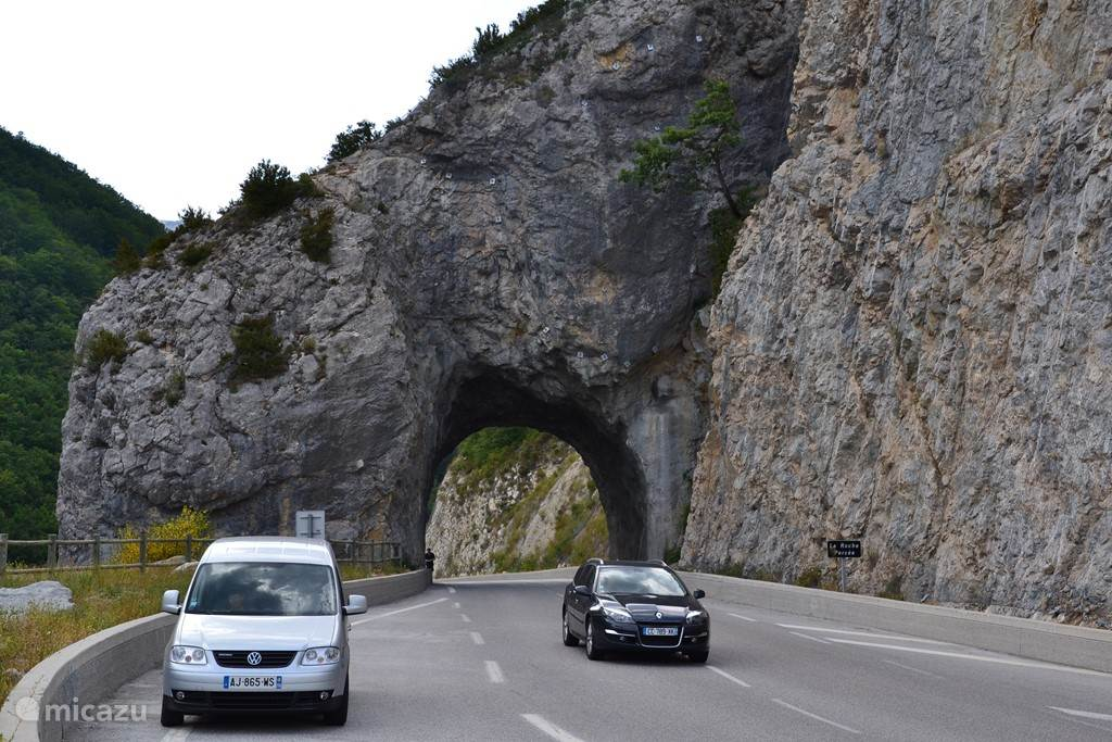 Several tunnels to cut through the mountains