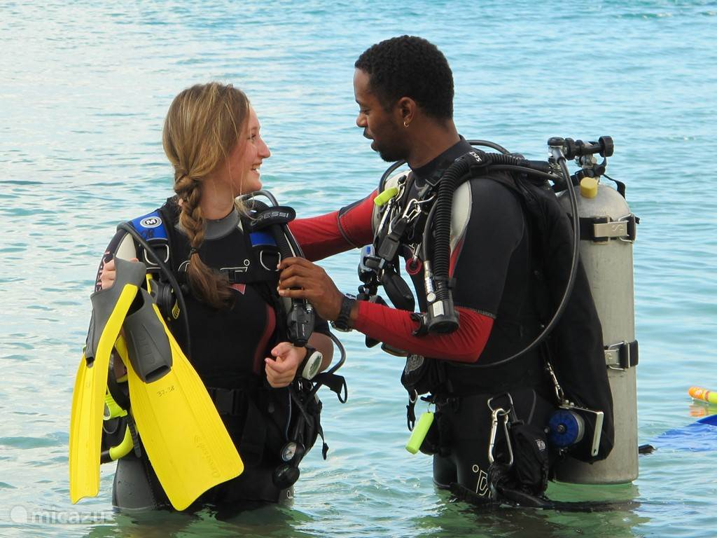 Snorkeling or diving are an experience at the PADI diving school at the Blue Bay Beach! There are also 2 catamarans + Kayaks for rent.