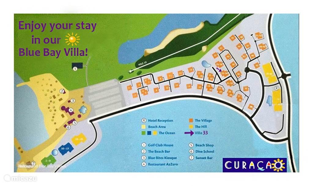 Plattegrond Blue Bay Village + Locatie villa 33