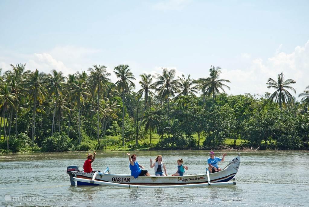 Of vanaf de kano genieten van de omgeving