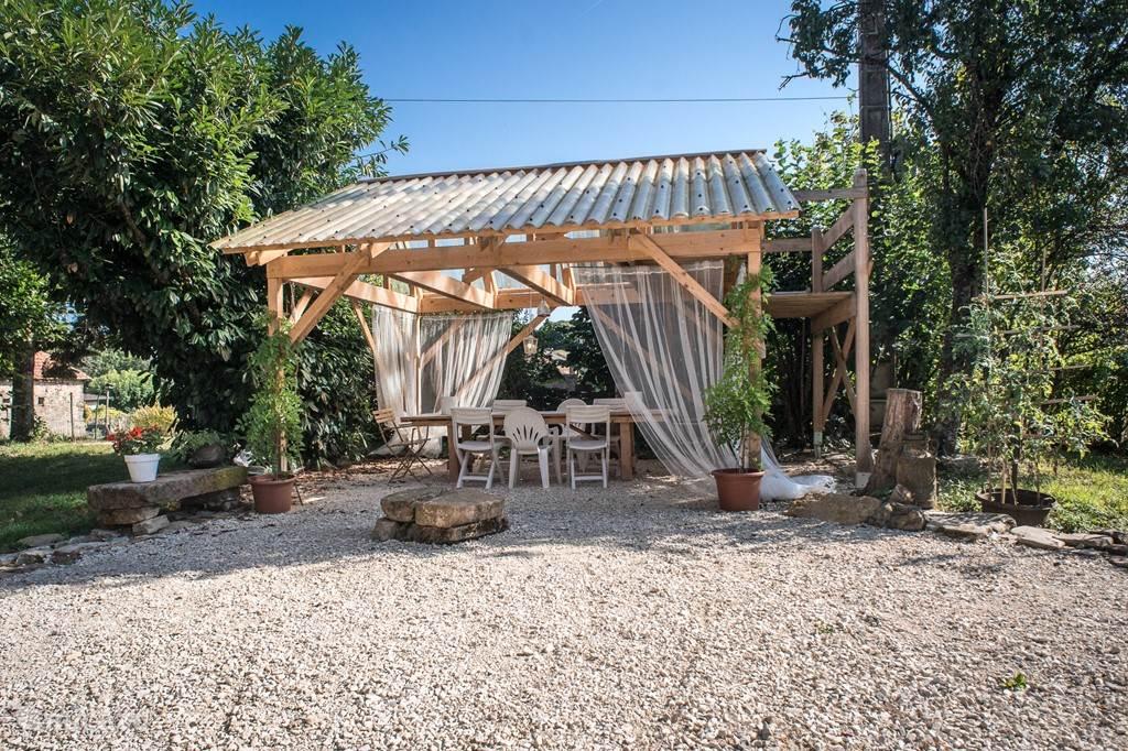 Tuinhuis (l'abri), een waardevolle aanvulling op wat het huis al biedt