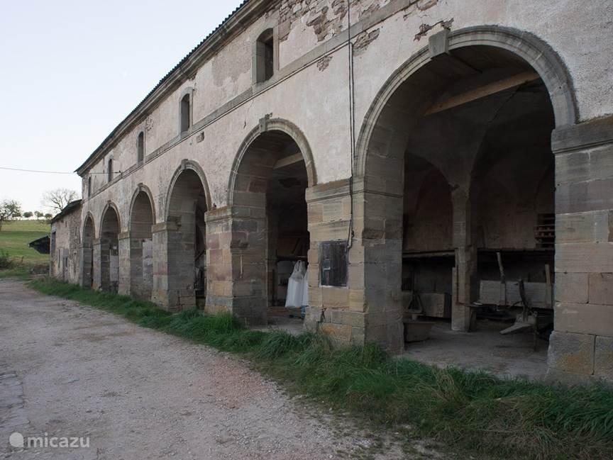 Restanten van de oude Abdij