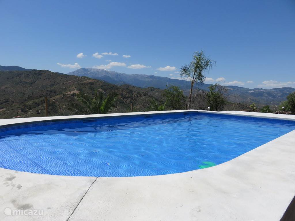 Het uitzicht vanaf het zwembad
