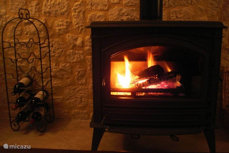 Lekkere warme houtkachel