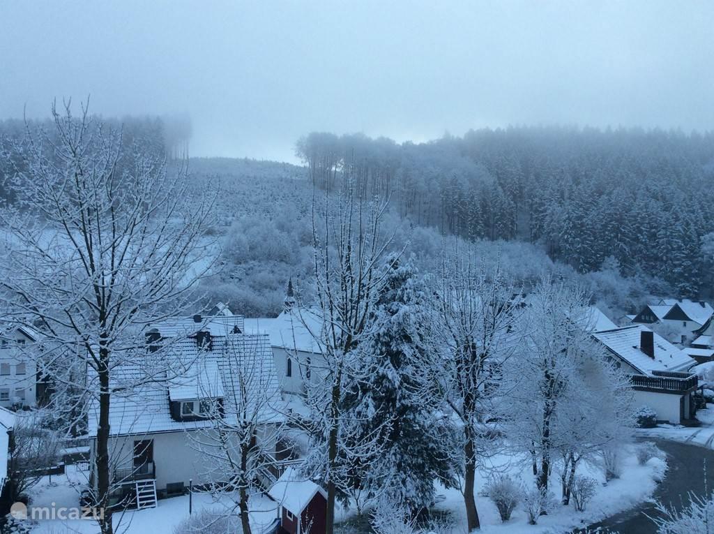Winter in het dorp
