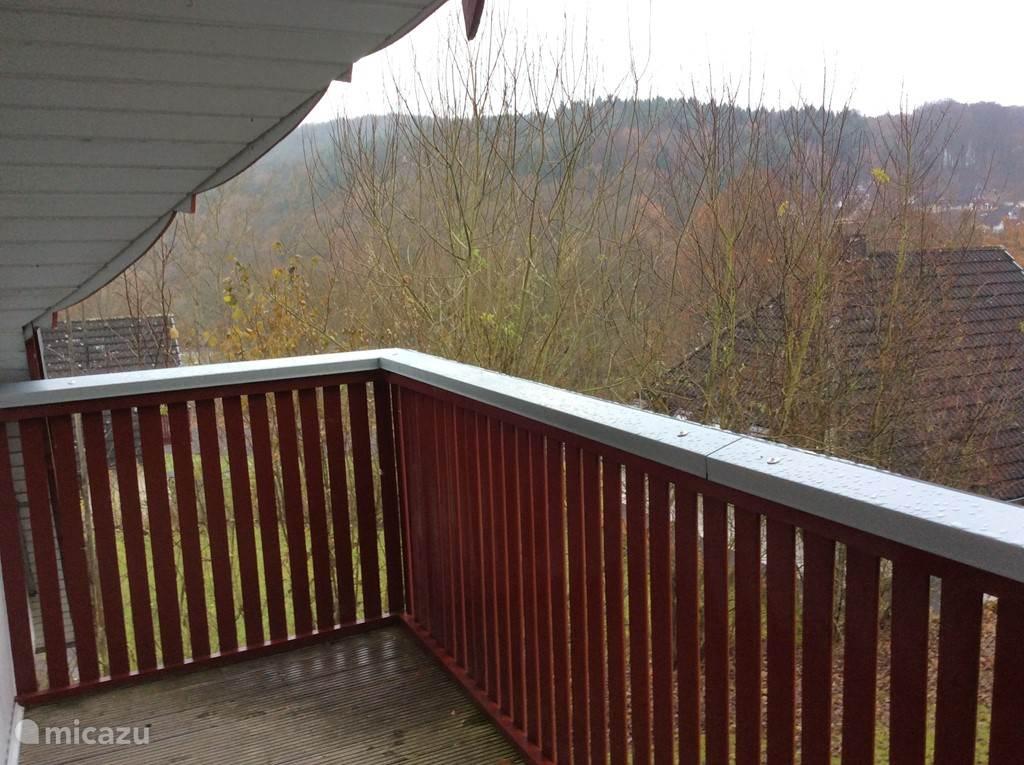 Het uitzicht vanaf het balkon