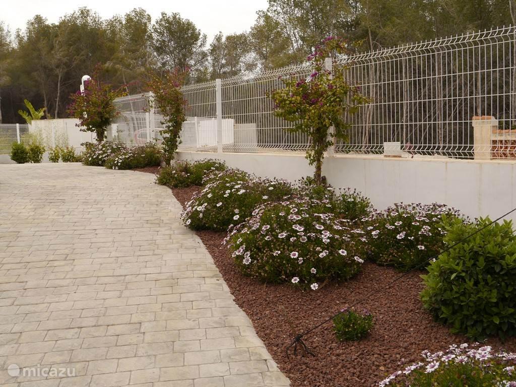 De tuin aan de zuid-oost kant
