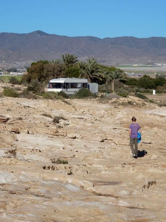 Playa de Parazuelos (in de winter zonder parasols, want rustig)