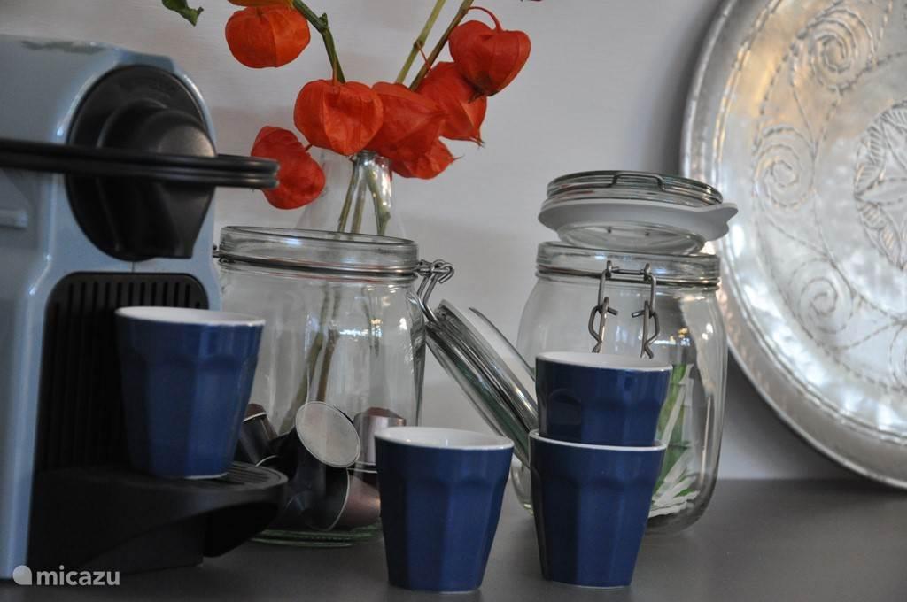 Koffie en thee bij aankomst