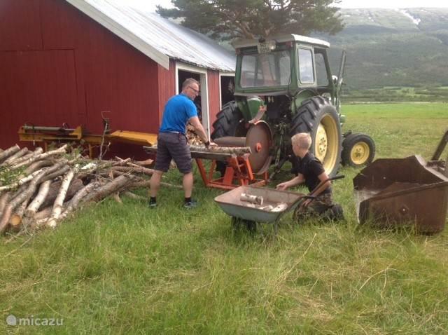 Helpen met hout kloven