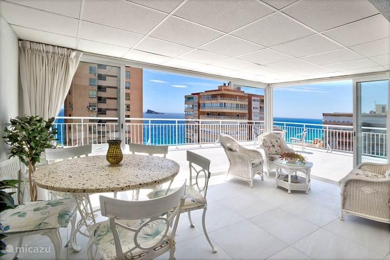 Ferienwohnung Spanien, Costa Blanca, Benidorm Appartement Luxus Penthouse ammeer 2dachterrasse