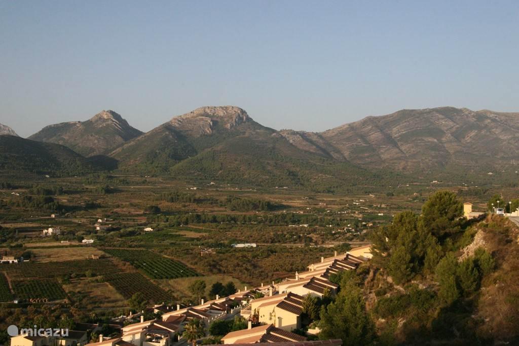Uitzicht op de Jalon vallei