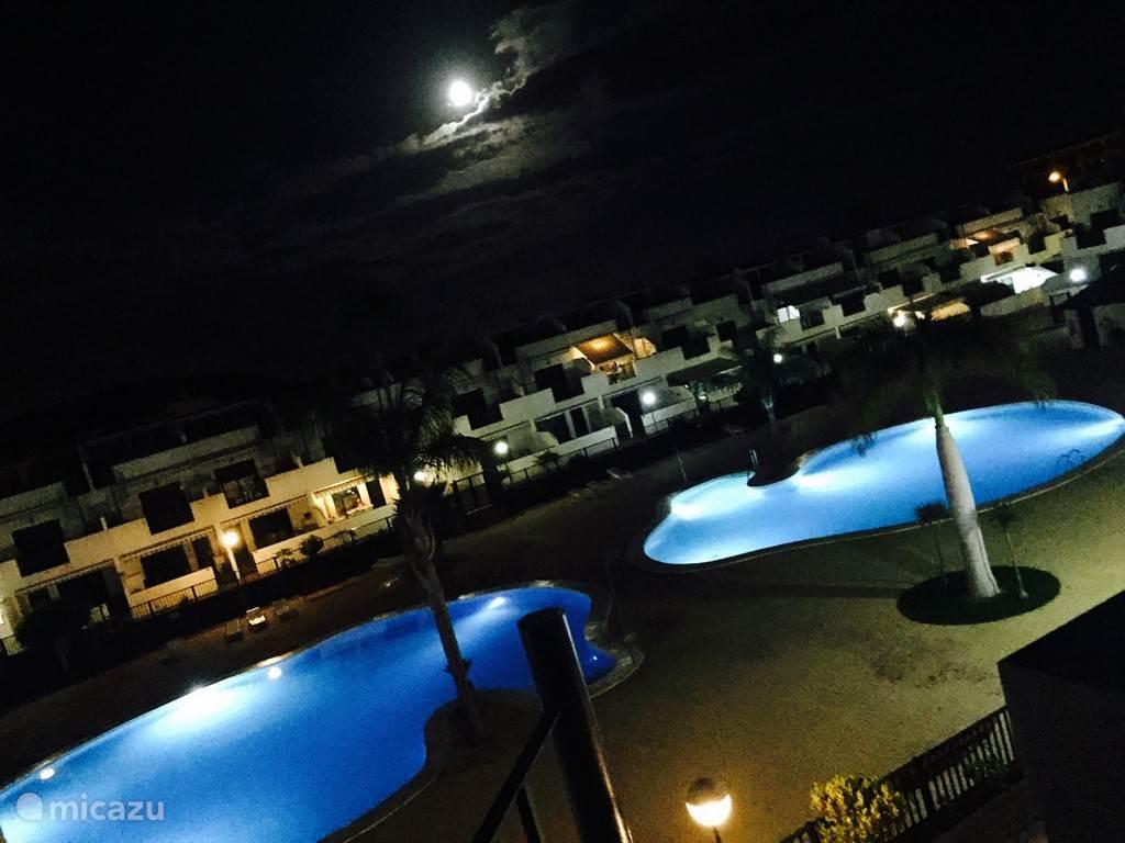 Zwembad bij maanlicht :-)
