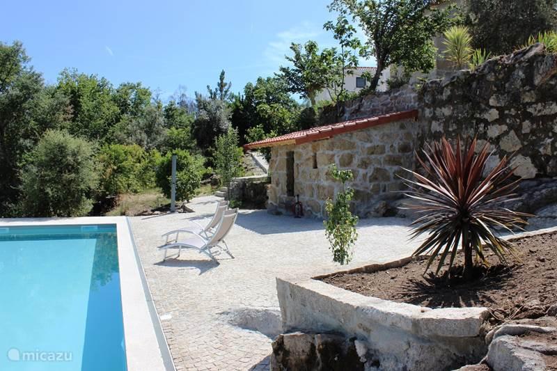 Vakantiehuis Portugal, Beiras, Viseu Finca Vakantiehuis voor 7 p, bergzicht