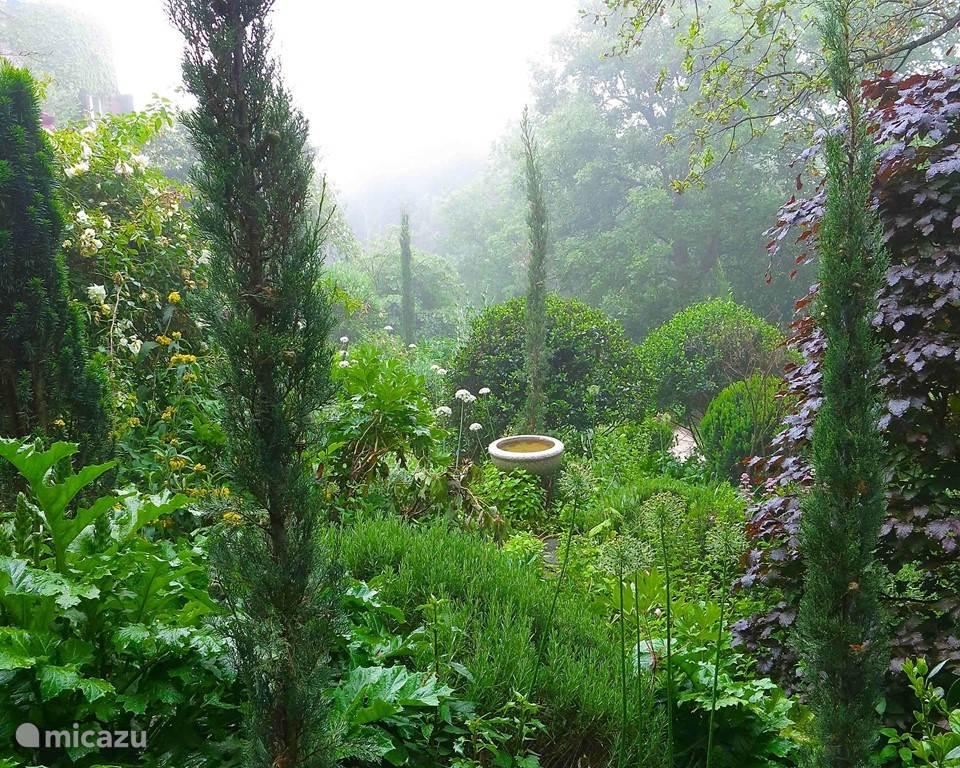 deel van de fraai aangelegde tuin