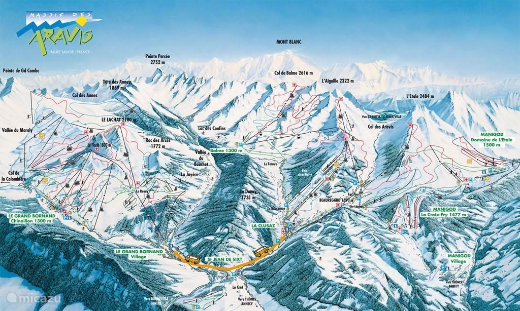 Plattegrond van het skigebied