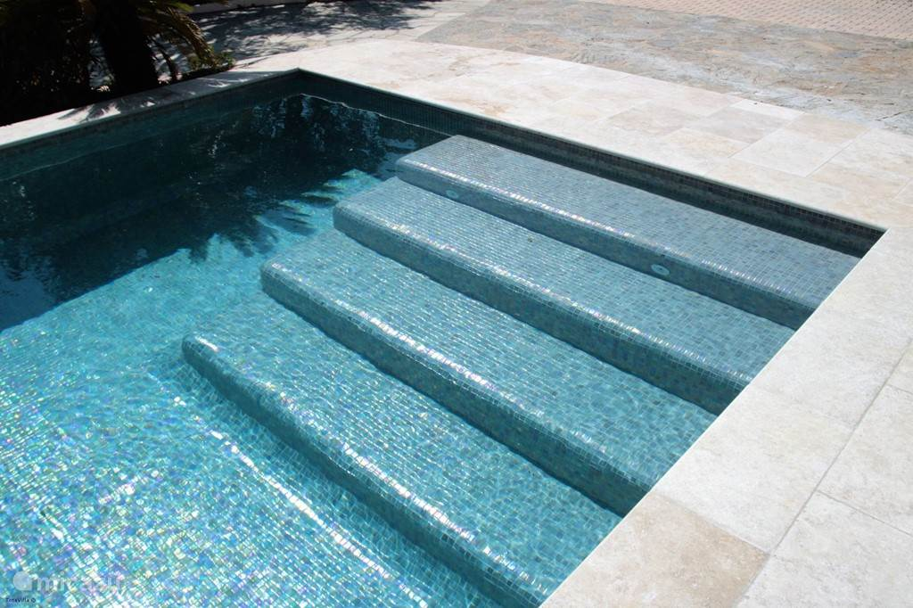 Staircase in swimming pool