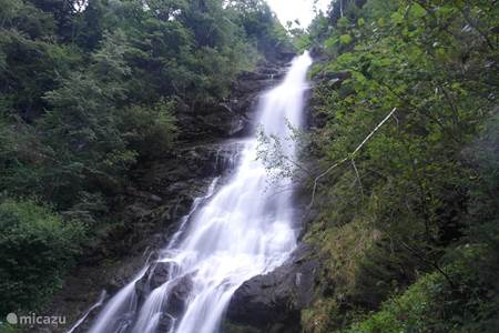 Schleier waterfall in Hart, highest waterfall in the Zillertal