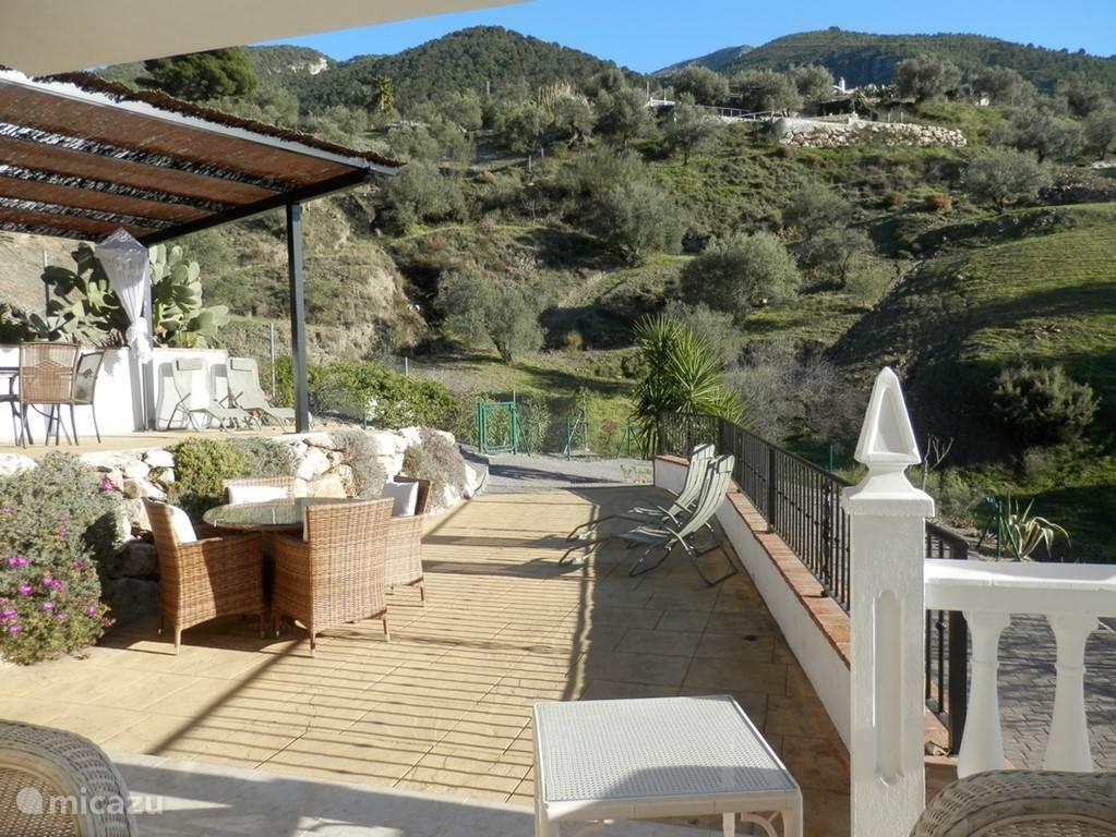 De terrassen met spectaculair uitzicht