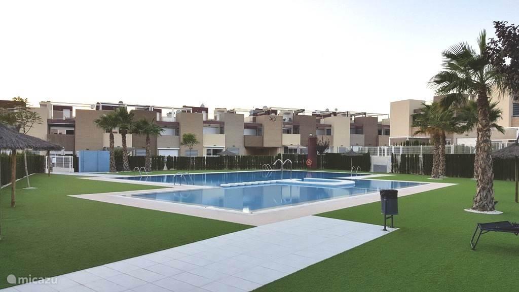 Het zwembad in de residentie.