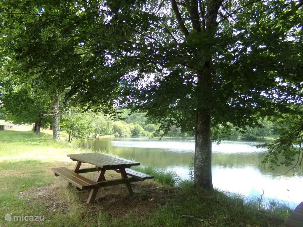 picknick plaatsen aan het zwemmeer
