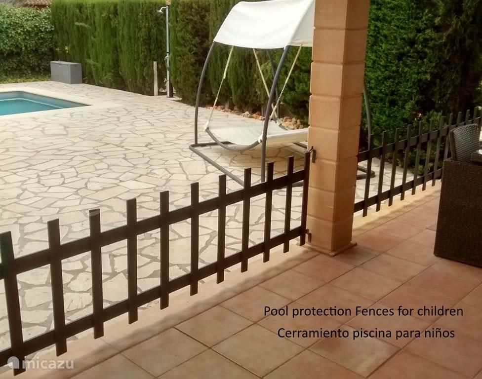 hek voor veiligheid zwembad