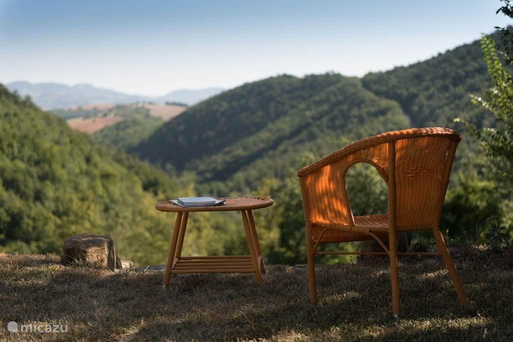 Heerlijk rustig zitten met een boek en genieten van het uitzicht