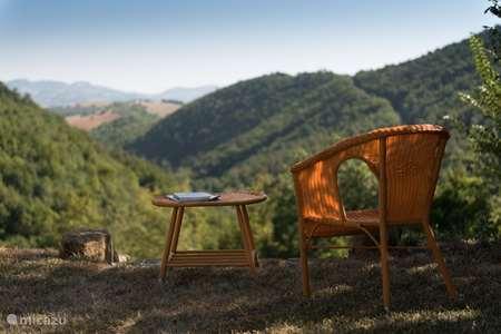 Vakantiehuis Italië, Marche, Pergola - appartement Agriturismo Carincone app Acqua