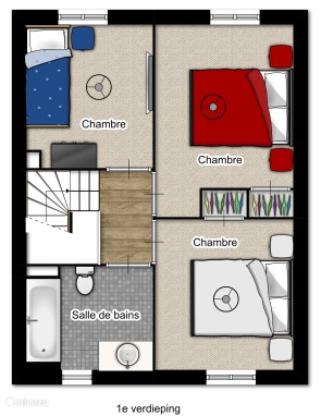 Indeling 1e verdieping