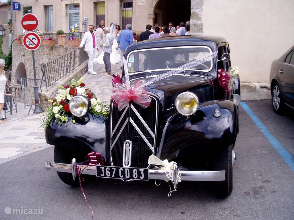 a wedding in a village in Provence