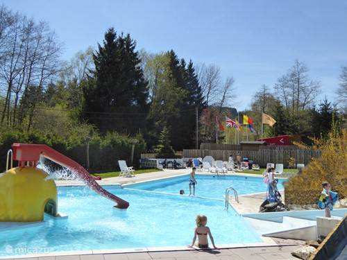 Swimming pool at campsite