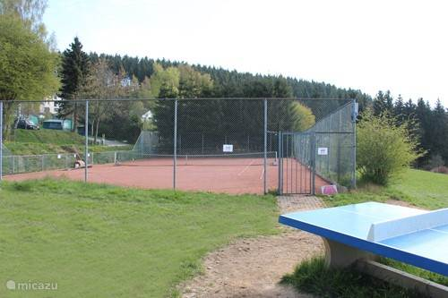 Tennis court at the campsite