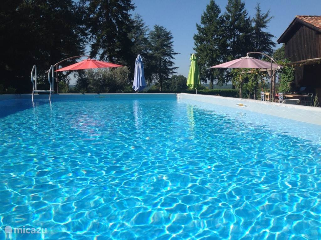 zwembad glamping La Mirande