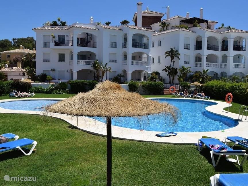 Zwembad en complex appartement Jazmin