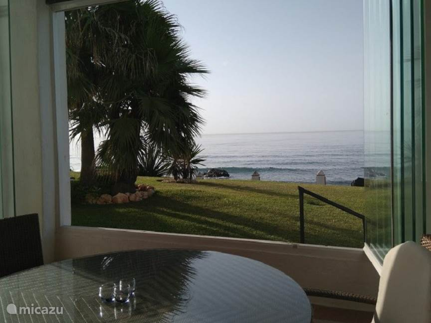 Uitzicht appartement Playa de la Lucera I vanaf terras