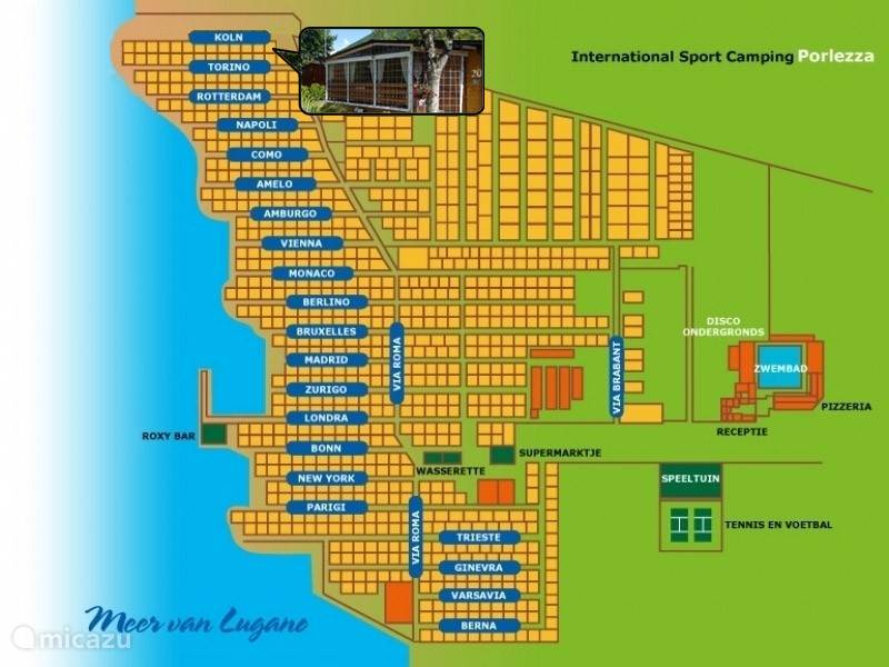 Map of the site, as you can see, we are situated on the edge, but still close to all amenities