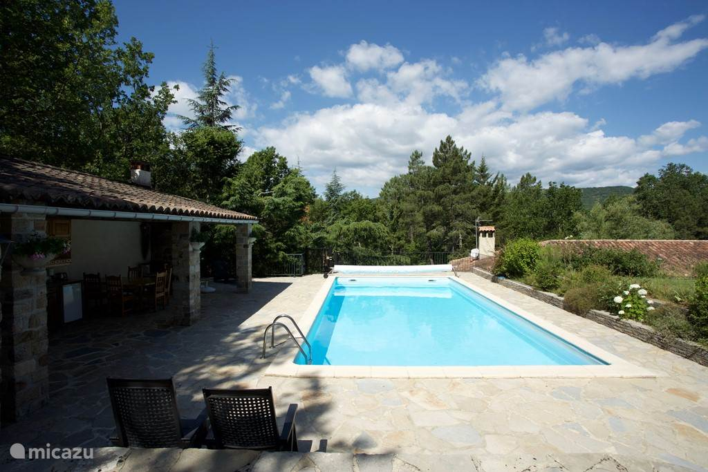 Enjoy the pool overlooking the Cevennes