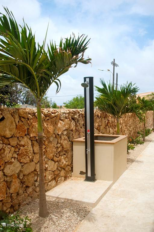 outdoor shower and rinse tank