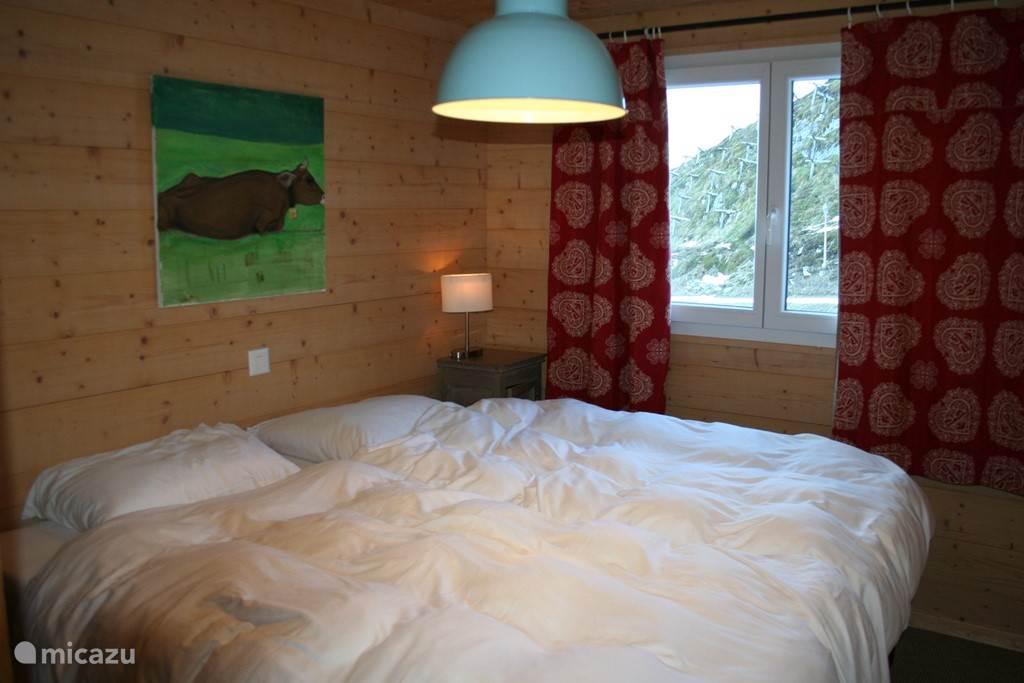 Slaapkamer 1, met een tweepersoonsbed