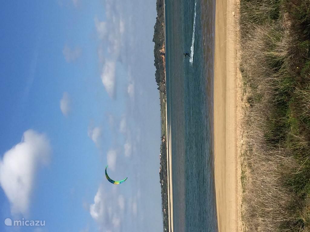 Kitesurfen in de laguna