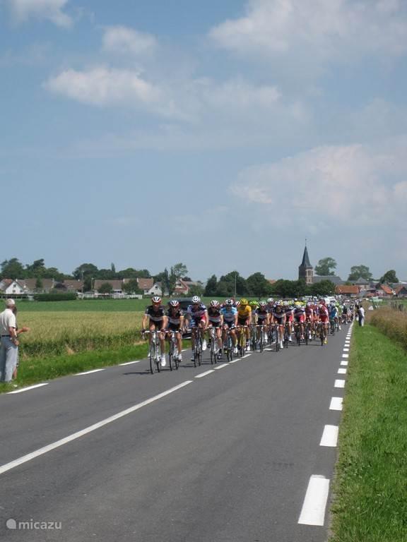 Tour de France riders pass