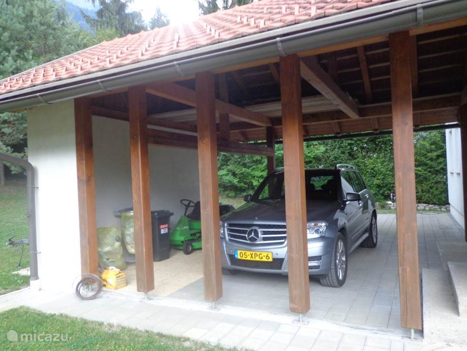 Carport. There is ample parking at the house.