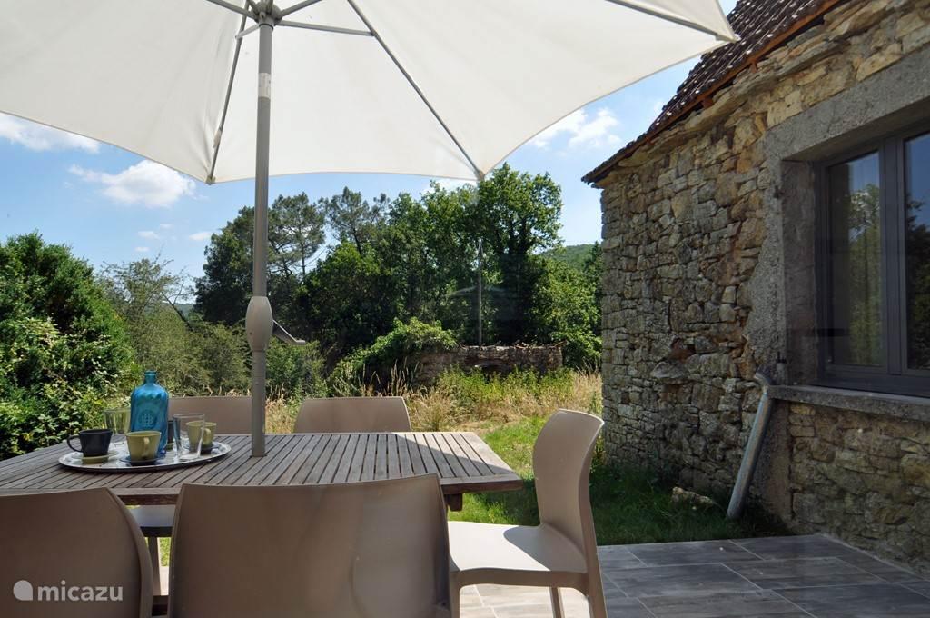 Vakantiehuis Frankrijk, Midi-Pyrénées, Montcléra Gîte / Cottage Gite met minicamping en zwembad