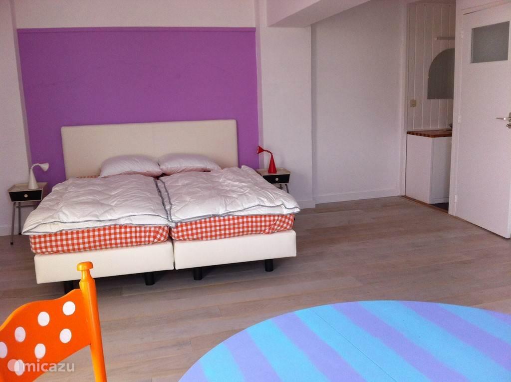 De grootste slaapkamer ook met zicht op de Maas