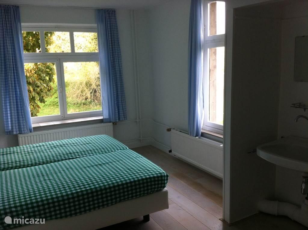 Een van de kleinere slaapkamers, zeker die van groot en Klein Gribben  hebben een geweldig uitzicht