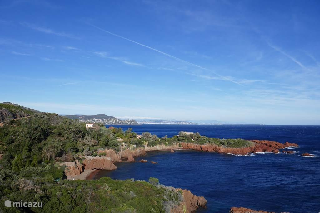 Côte d'Azur bij St. Maxime richting les Issambres